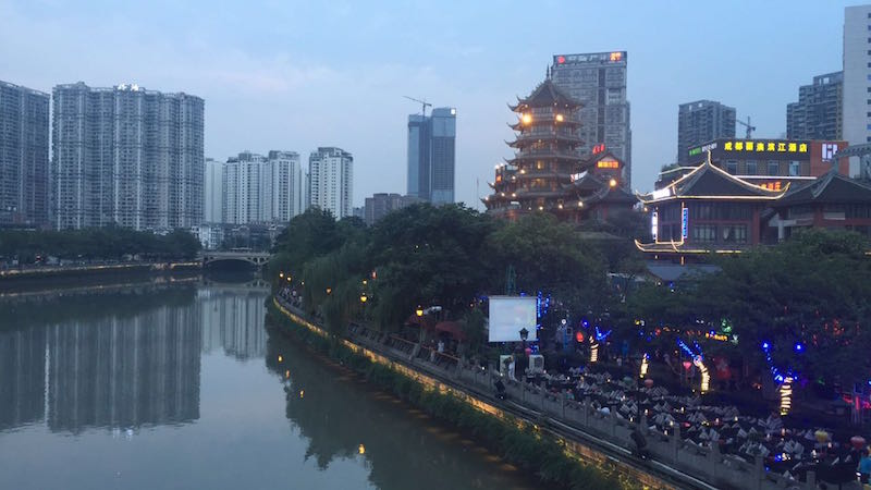 InternChina - View from Anshun Bridge in Chengdu