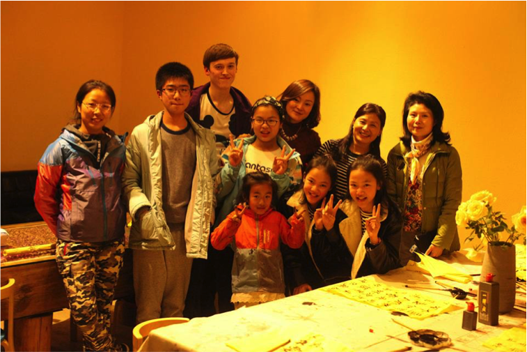Calum-with-his-homestay-family