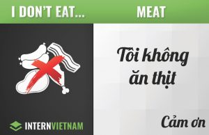I don't eat meat