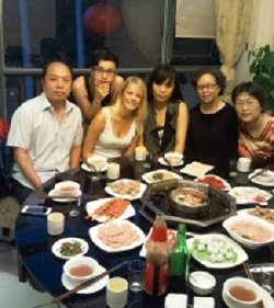InternChina Homestay - meal with host family Chengdu