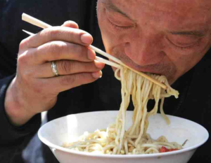 slurping as a cultural difference source: http://www.roarr.me/wp-content/uploads/2012/12/china-slurping-noodles-small.jpg