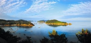 Changshan Islands on a sunny day before sunset
