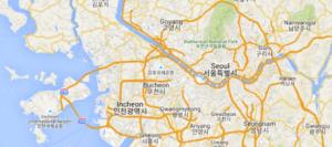 Map of city of Seoul, the capital of South Korea