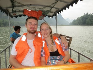InternChina - Anton and me in Guilin