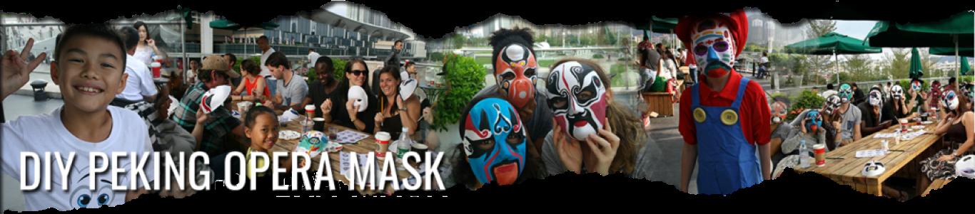 DIY peking opera mask in zhuhai