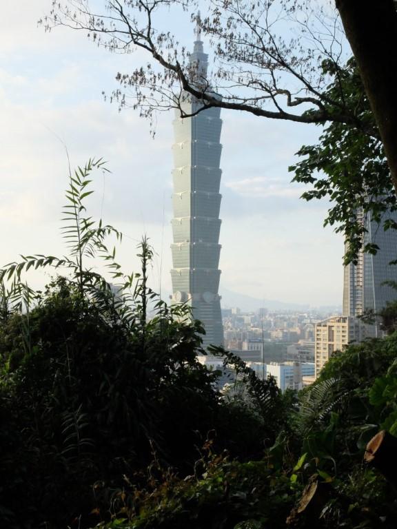 Taipei 101 tower hill view elephant mountain