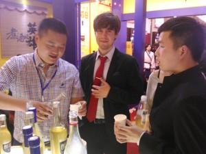 InternChina - Tim drinking cheese mijiu