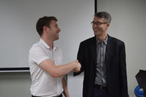 InternChina - Zhuhai Office Manager thanking Henrik Larsen