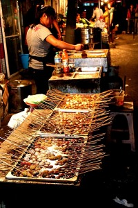 InternChina - Dalian Street Vendors Skewers