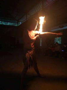 InternChina - Fire eating show