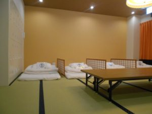Tatami room in Nagoya with futons