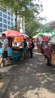 Street food stalls behind Qingdao University