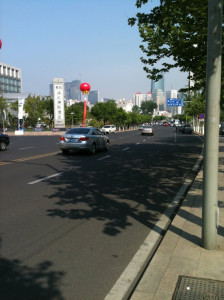 InternChina - Qingdao in 2009 with empty streets