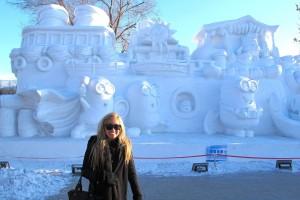 Intern China-Minions snow sculptures at Sun Island