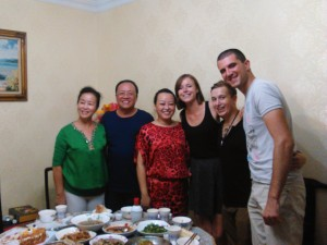 Dinner with Hostfamily and Colleagues