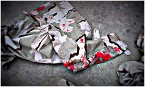 InternChina - 'Blood' stained clothing heightened our nerves of what was to come!