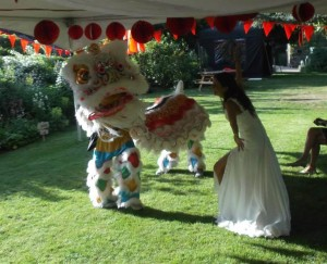 InternChina - Chinese Lion at Jamie & Helens wedding