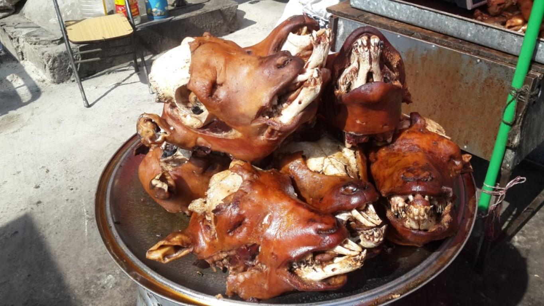 InternChina - Hohhot Street Market - Lamb head