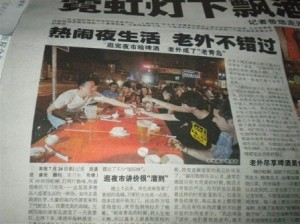 InternChina-Our-students-making-the-news-while-enjoying-the-street-barbeques