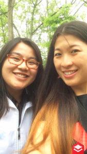 Rosa & Erika visiting an NGO