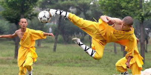 InternChina - Shaolin Soccer Player In Action