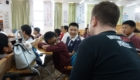 Paul from InternChina talking to children