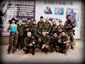 InternChina - Journée au Paintball