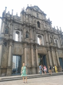 InternChina - The front of the burned church