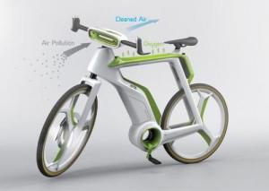 InternChina - Air-purifying bike
