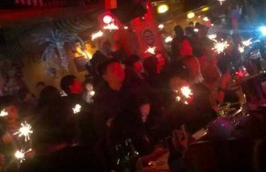 InternChina - Sparklers welcoming the New Year in QD