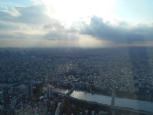 the view from the Tokyo Skytree