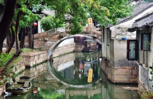 Tradition Bridge in Suzhou China
