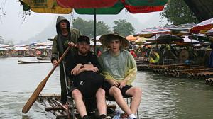 InternChina Yangshuo Bamboo Rafting Yu Long River