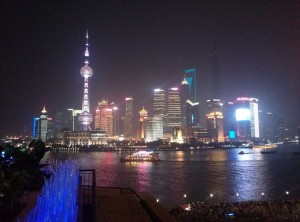 InternChina - The view on Shanghai's Skyline from Bar Rouge