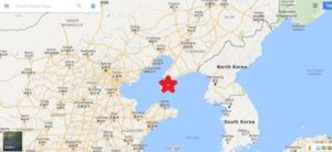 Dalian location on the map