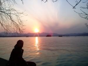 InternChina - Enjoying the sunset
