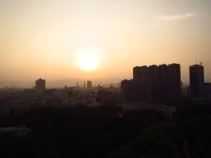 InternChina - Hohhot's skyline from a ferris wheel