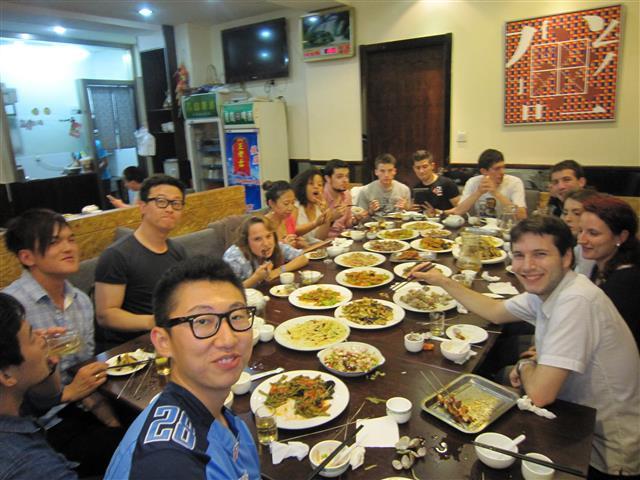 internchina dinner qingdao