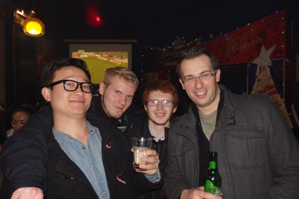 interns partying at new years eve