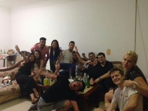 InternChina - Rooftop party turns into a flat party!