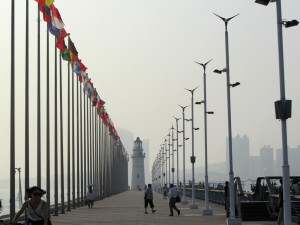 qingdao marina city lighthouse