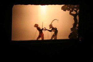 Shadow puppet fight