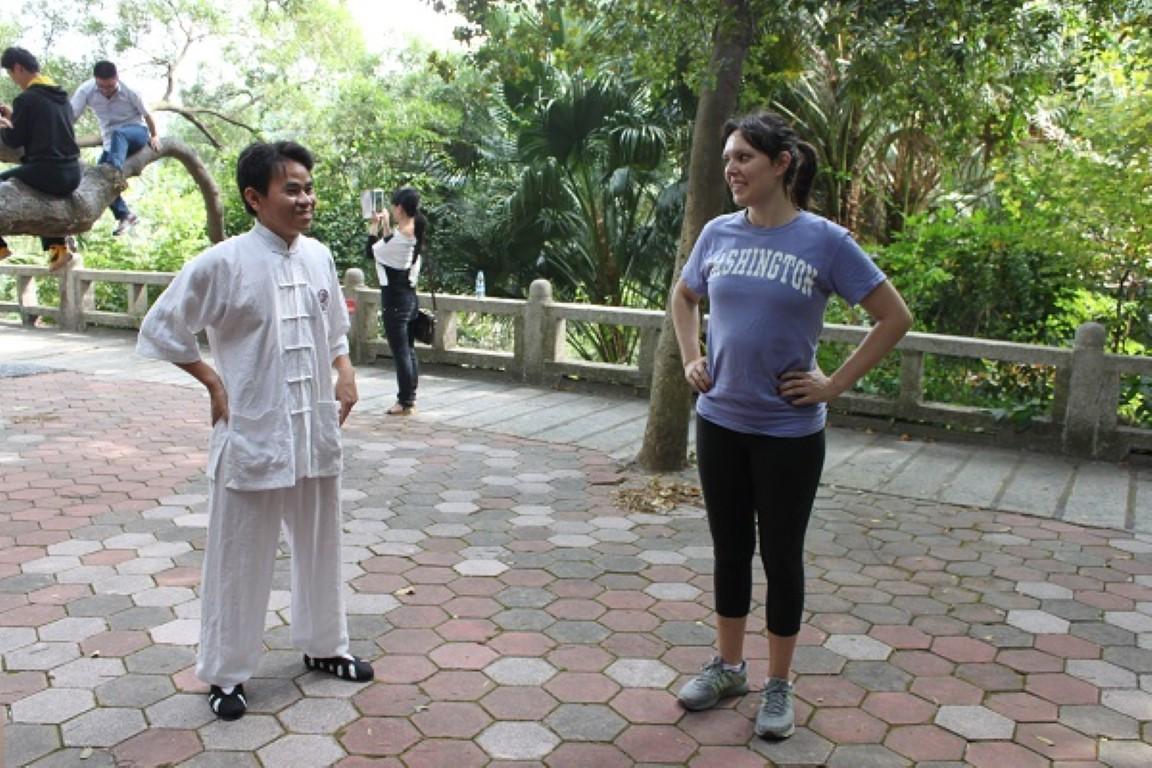 Our Tai Chi Teacher And Morgan the Translator